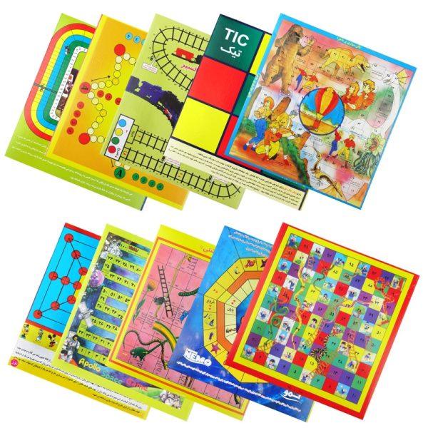 بازی فکری مدل 10 بازی در یک جعبه