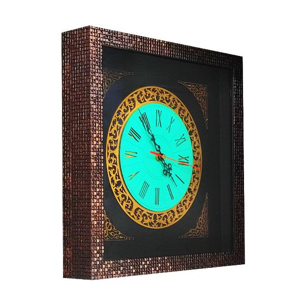 ساعت معرق کاری چوبی