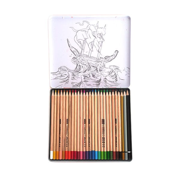 مداد رنگی فلزی 24+3 آریا