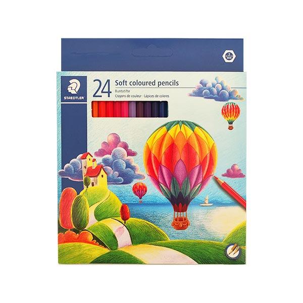 مداد رنگی 24 تایی مقوایی استدلر